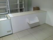 Полки для магазина,  (материал МДФ),  витрина-холодильник