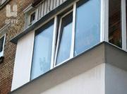 Установка козырька на остекленных балконах и лоджиях.Низкие цены!